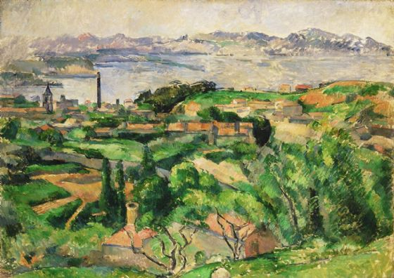 Cezanne, Paul: View of the Bay of Marseille with the Village of Saint-Henri. Fine Art Print/Poster. Sizes: A4/A3/A2/A1 (004244)